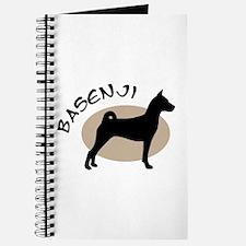 basenji dog black & tan Journal