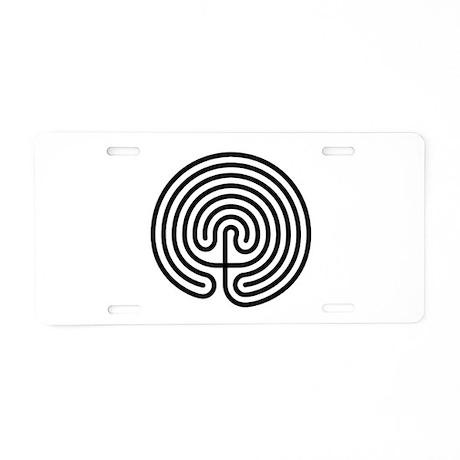 Labyrinth AO Aluminum License Plate