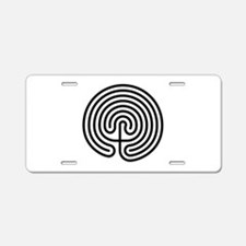 Labyrinth AO Aluminum License Plate