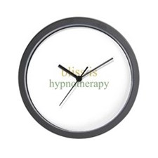 bliss is HYPNOTHERAPY  Wall Clock