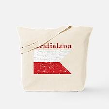 Flag Of Bratislava Design Tote Bag