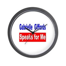Giffords Speaks for Me Wall Clock