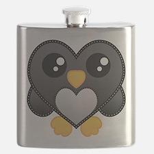 Heart Penguin Flask