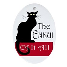 The Ennui Cat Ornament (Oval)