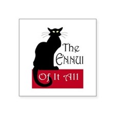 "The Ennui Cat Square Sticker 3"" x 3"""