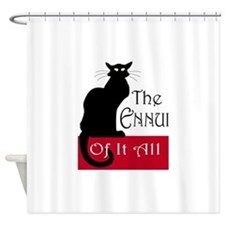 The Ennui Cat Shower Curtain