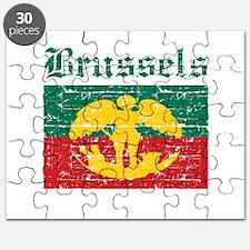 Flag Of Brussels Design Puzzle