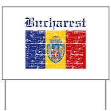Flag Of Bucharest Design Yard Sign