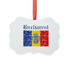 Flag Of Bucharest Design Ornament