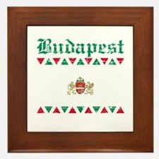 Flag Of Budapest Design Framed Tile