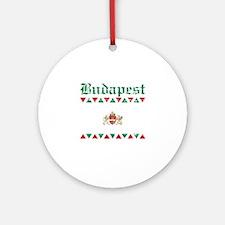 Flag Of Budapest Design Ornament (Round)