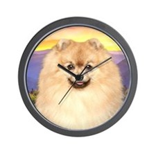 Pomeranian Meadow Wall Clock