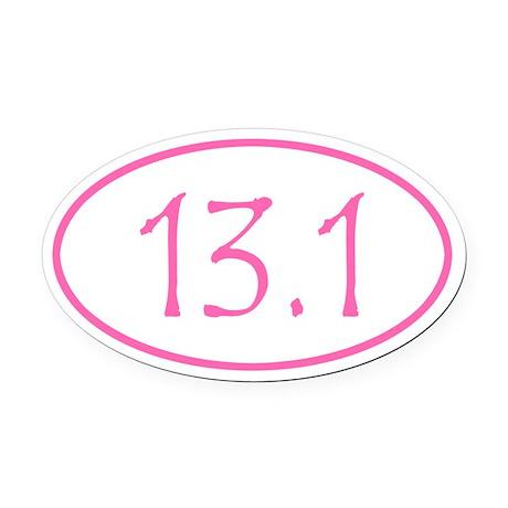 Pink 13.1 Oval Car Magnet