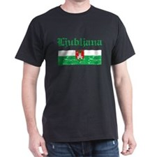 Flag Of Ljubljana Design T-Shirt