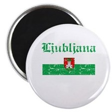 Flag Of Ljubljana Design Magnet