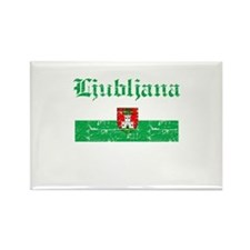 Flag Of Ljubljana Design Rectangle Magnet