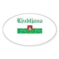 Flag Of Ljubljana Design Decal