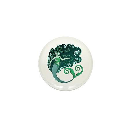 Winter Mermaid Mini Button (10 pack)