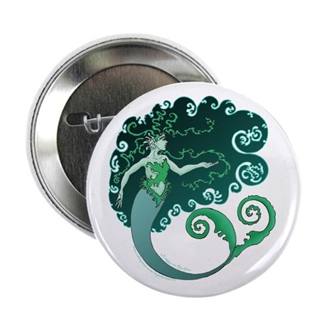 Winter Mermaid Button