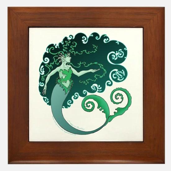 Winter Mermaid Framed Tile