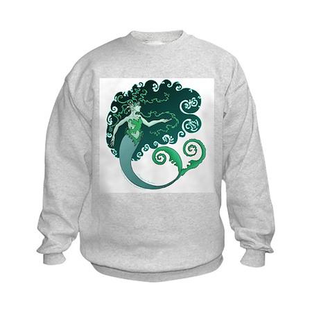 Winter Mermaid Kids Sweatshirt
