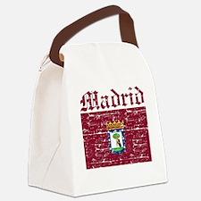 Flag Of Madrid Design Canvas Lunch Bag