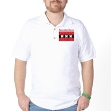 Flag Of Amsterdam Design T-Shirt