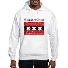 Flag Of Amsterdam Design Hoodie