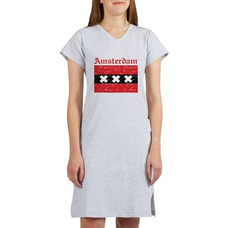 Flag Of Amsterdam Design Women's Nightshirt