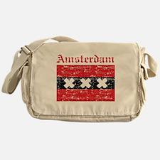 Flag Of Amsterdam Design Messenger Bag