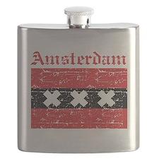 Flag Of Amsterdam Design Flask