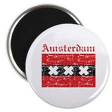 Flag Of Amsterdam Design Magnet