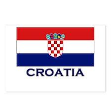 Croatia Flag Gear Postcards (Package of 8)