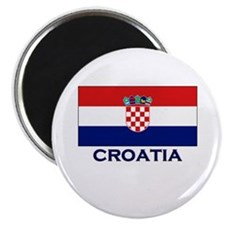 Croatia Flag Gear Magnet