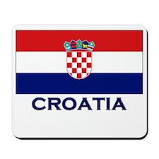 Croatia Flag Gear Mousepad