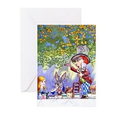Mad Hatter's Tea Party Greeting Cards (Pk of 20)