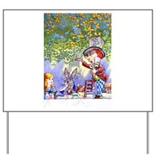 Mad Hatter's Tea Party Yard Sign