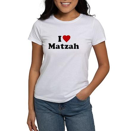 I Love [Heart] Matzah Womens T-Shirt