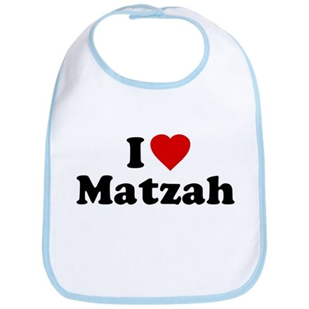 I Love [Heart] Matzah Bib