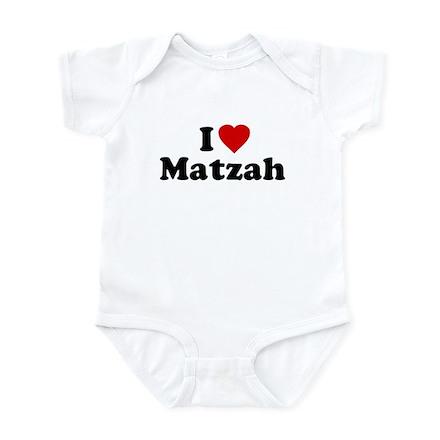 I Love [Heart] Matzah Infant Bodysuit