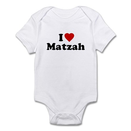 I Love [Heart] Matzah Infant Bodysuit