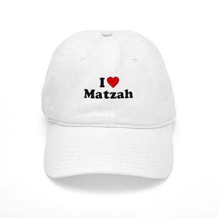 I Love [Heart] Matzah Baseball Cap