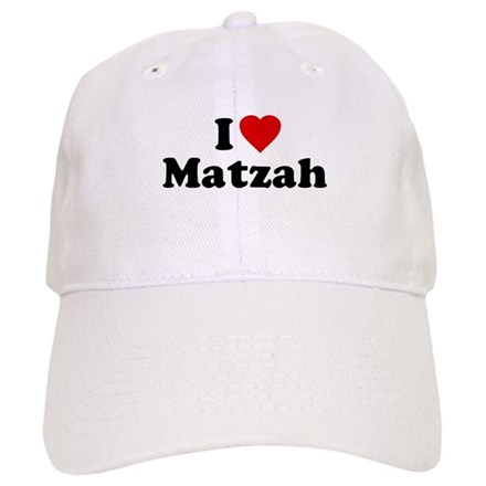I Love [Heart] Matzah Baseball Cap