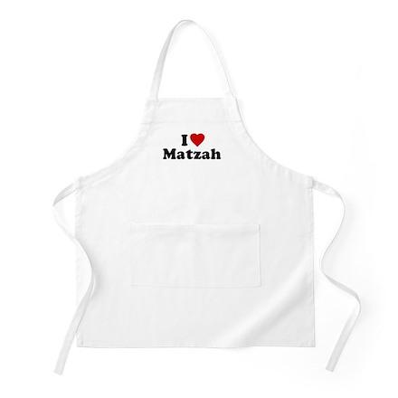 I Love [Heart] Matzah BBQ Apron