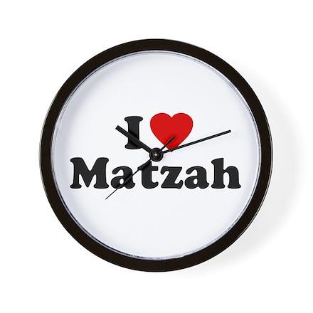 I Love [Heart] Matzah Wall Clock