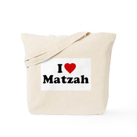 I Love [Heart] Matzah Tote Bag