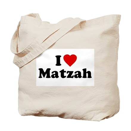 I Love [Heart] Matzah Tote Bag
