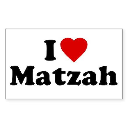 I Love [Heart] Matzah Rectangle Decal