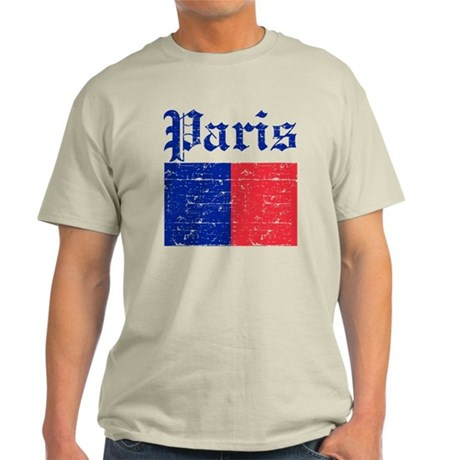 Flag Of Paris Design Light T-Shirt
