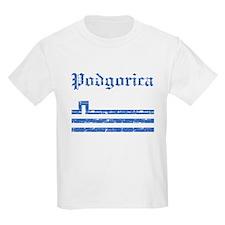 Flag Of Podgorica Design T-Shirt